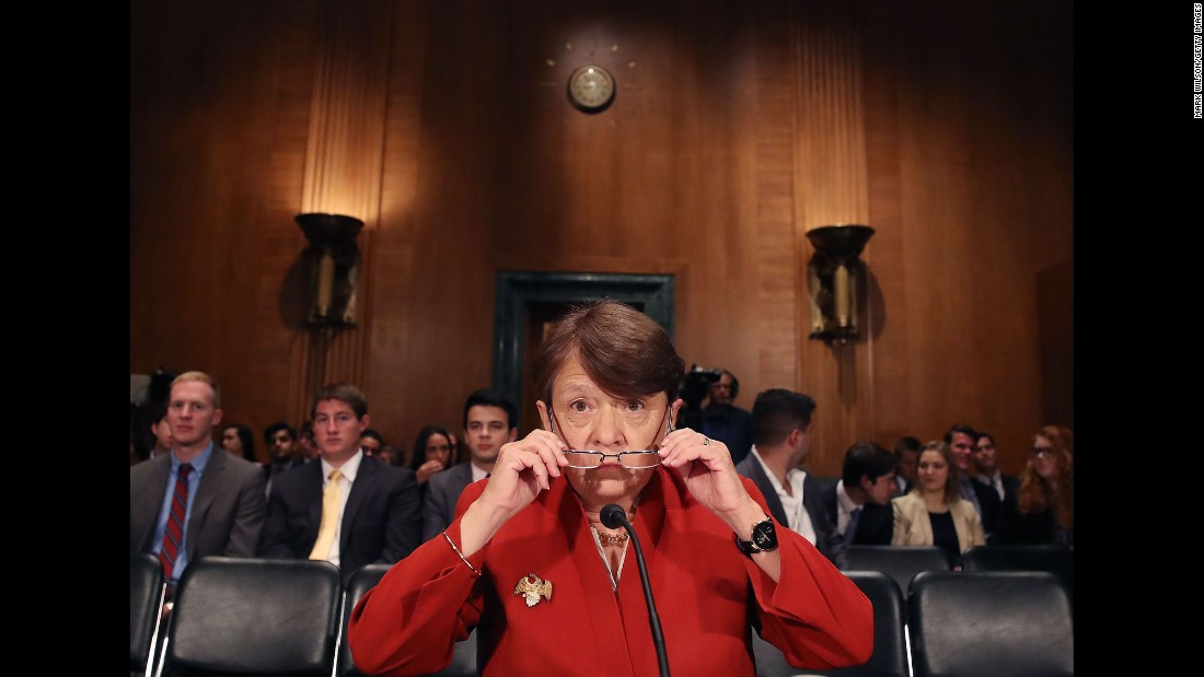 Mary Jo White, chairwoman of the Securities and Exchange Commission, appears before a Senate committee on Tuesday, June 14. The committee was hearing testimony regarding SEC oversight.