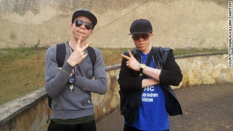 Rene and Clifford Bouma, of albino rap duo White African Music