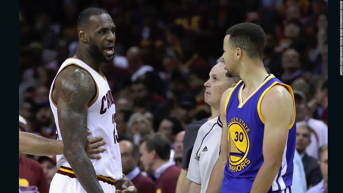 The two team leaders have had words throughout the six games of the NBA finals thus far, which the Warriors led 3-1 before a Cavaliers comeback.