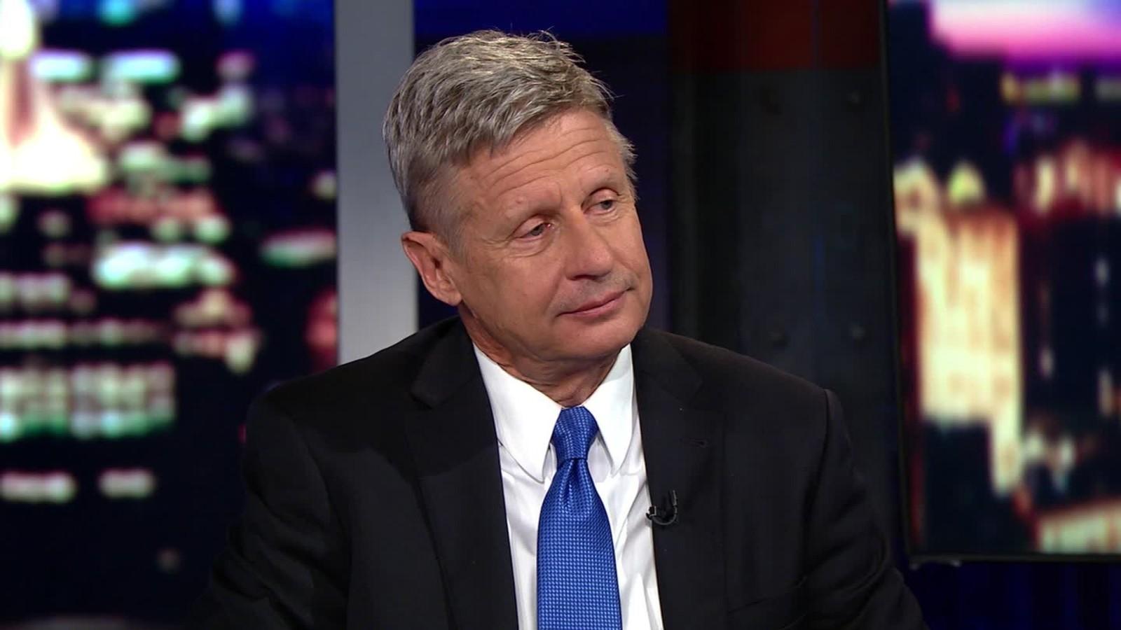 Gary Johnson slams Trump s Muslim TSA remark CNN Video