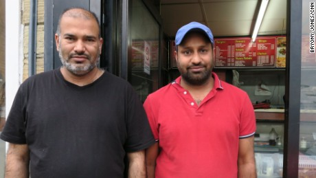 "Malazan Hussein and Altat Patel both knew Jo Cox; ""We campaigned together for the election,"" says Hussein. ""It is so sad -- 41 is too young!"""