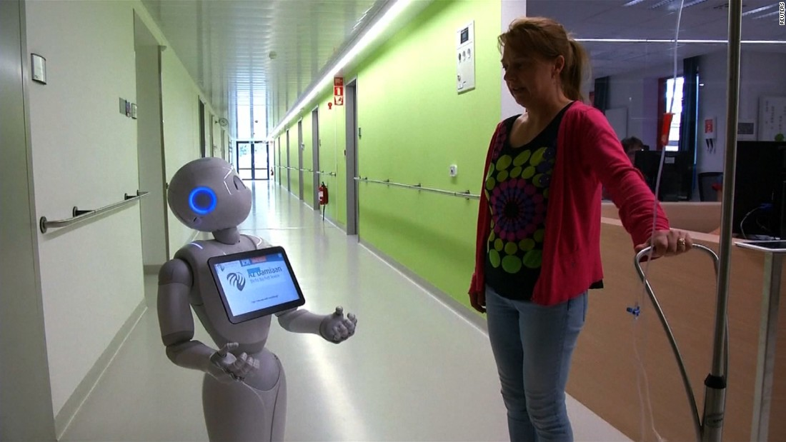 Robot receptionist gets job at Belgian hospital