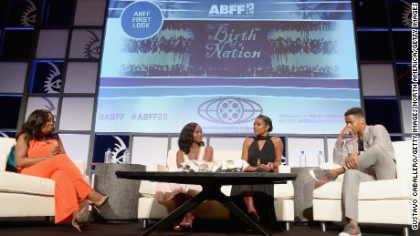 Star Jones, Gabrielle Union, Aja Naomi King, and Nate Parker attends The American Black Film Festival first look at 'A Birth Of A Nation' on June 17.