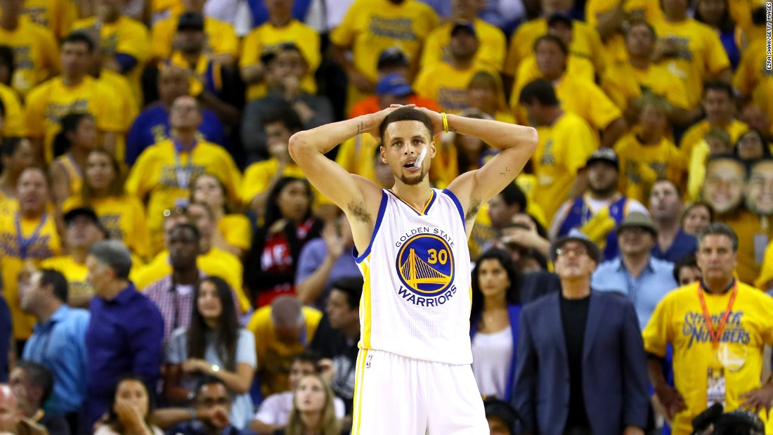 Golden State star Stephen Curry, the league's MVP this season, finished with 17 points and was 4-of-14 from 3-point range.