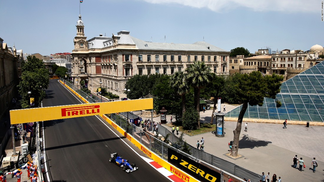 Located on the Caspian Sea, Baku spent five months preparing for three days of F1 action.
