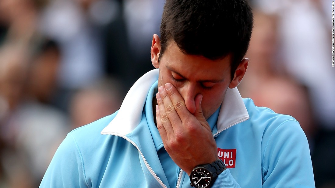 Not to be outdone, Novak Djokovic also cried after his defeat by Nadal in the 2014 French Open final.