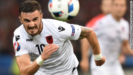 Armando Sadiku scored Albania's winner against Romania.