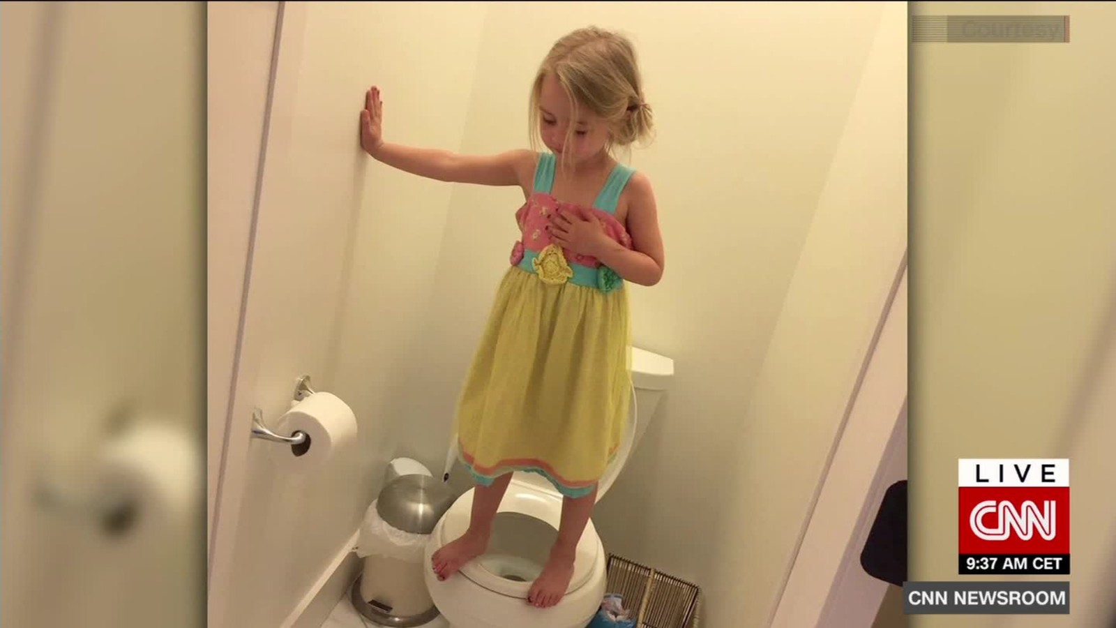 Girl stands on toilet as part of preschool gun drill - CNN