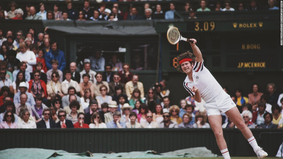 In the 1980 Wimbledon final, McEnroe faced Borg in what is often described as one of the greatest tennis matches of all time.