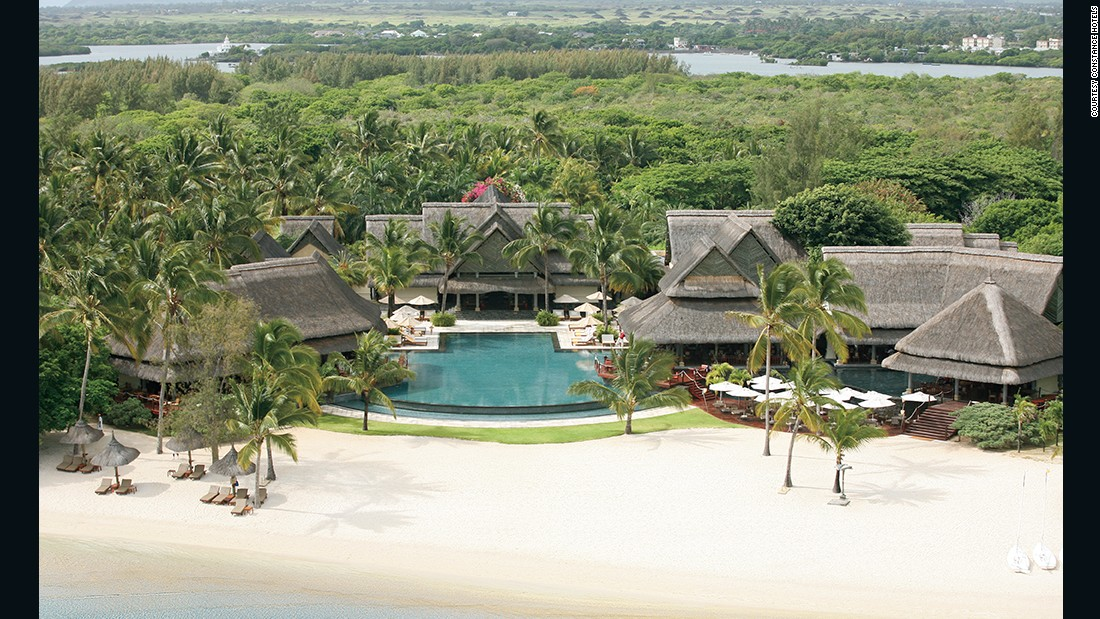 Features of this Mauritian hotel include a spa, cuisine from international chefs and two 18-hole championship golf courses.