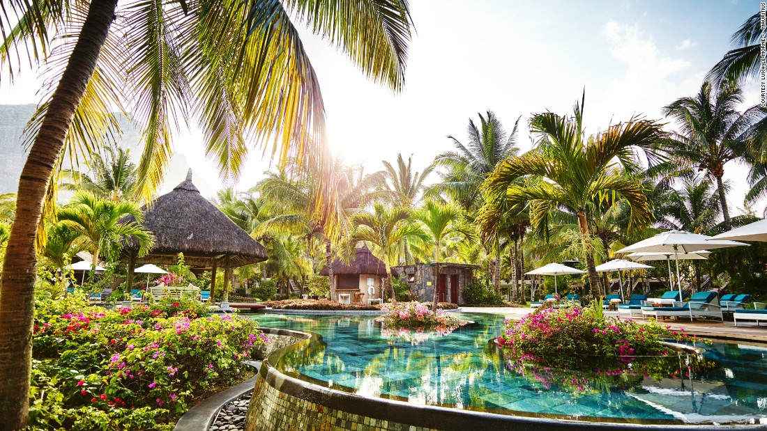 "On one side of <a href=""http://www.luxresorts.com/en/hotel-mauritius/luxlemorne?gclid=CK-d0oj9u80CFRG6Gwodb98P8Q"" target=""_blank"">this hotel</a> guests can see the Le Morne mountain, and on the other, miles of sandy beach. The UNESCO World Heritage site is also known for its spectacular sunsets."