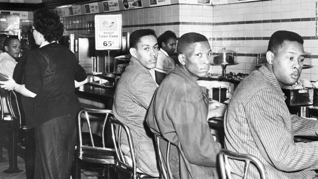 "The method saw renewed use in the civil-rights movement. A pivotal moment came in 1960, when African-American college students staged a sit-in at the <a href=""http://www.cnn.com/2010/US/02/01/greensboro.four.sitins/"">Woolworth's lunch counter</a> in Greensboro, North Carolina."