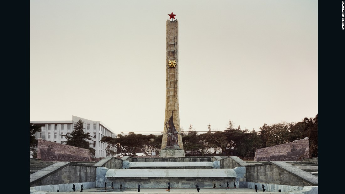 "Photographed by Korean artist Che Onejoon, the Tiglachin Monument in Addis Ababa, Ethiopia, is one of many objects demonstrating the legacy of communist influence in Africa. ""Red Africa,"" an upcoming book by Black Dog Publishing, explores the relationships between African states and communist governments during the Cold War years."