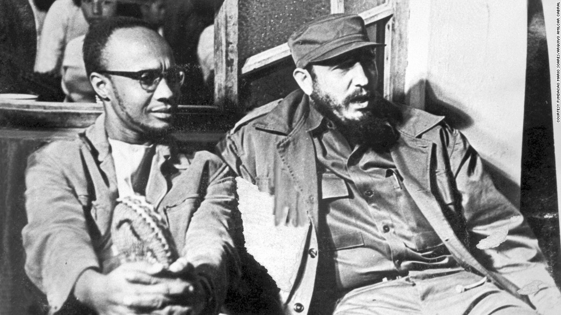 During the Cold War, leaders of African resistance movements met with communist leaders. Amílcar Lopes Cabral, leader of the independence movement in Guinea-Bissau, meets with Castro in Havana, Cuba, during the Tricontinental Conference, 1966.