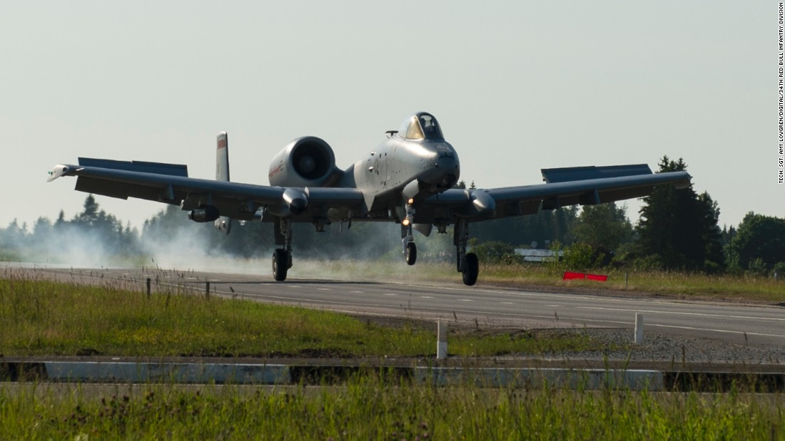 A-10s make rare highway landing near Russian border