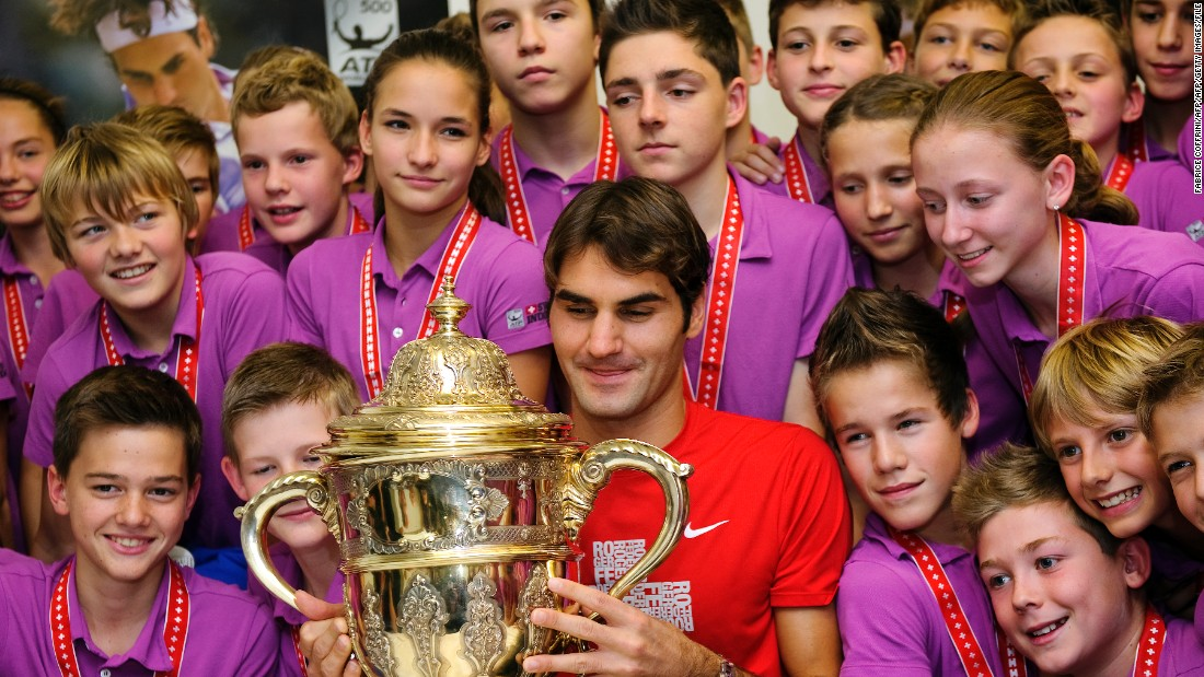 Of his 88 singles titles, Federer has won his home Swiss Indoors event in Basel -- where he used to be a ball boy -- a record seven times.