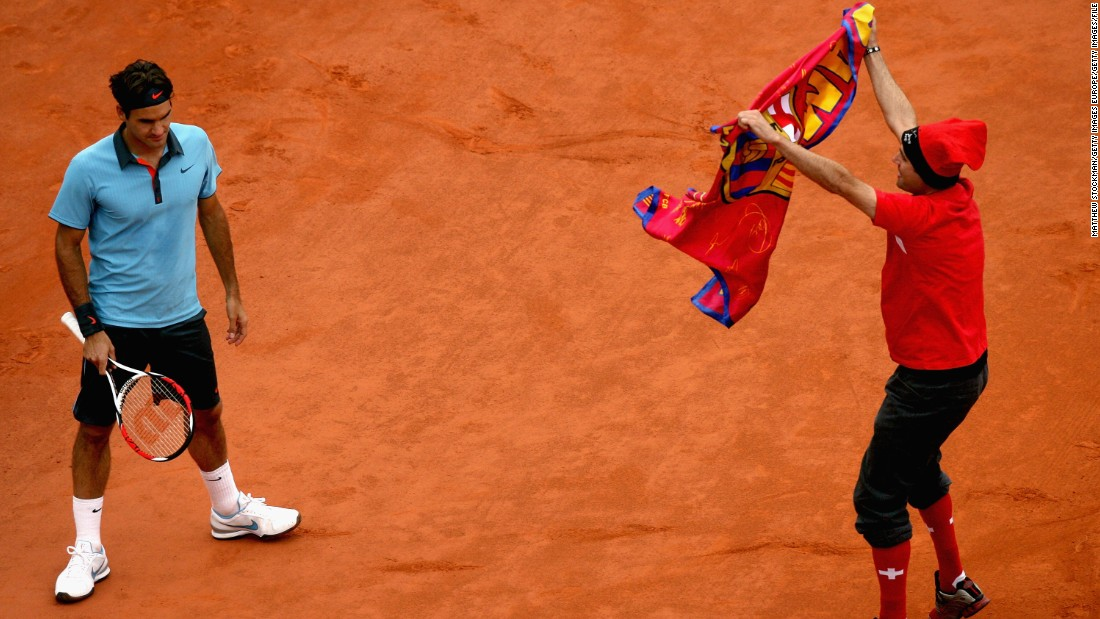 He won his only French Open in 2009, despite the interference of a court invader in the final. Federer had lost the previous three title matches at Roland Garros, and would suffer defeat on the famous red clay again in 2011 -- each time against his old rival Rafael Nadal.