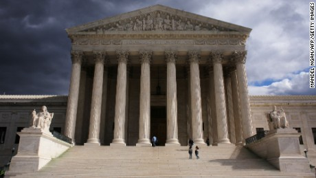 A 29 October 2006 photo shows the US Supreme Court in Washington, DC.            (Credit: MANDEL NGAN/AFP/Getty Images)