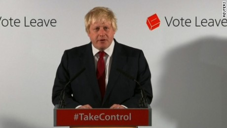 Boris Johnson reacts to UK vote