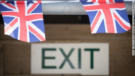 WADEBRIDGE, ENGLAND - JUNE 09:  Union Jack bunting is displayed near the show exit on the first day of the Royal Cornwall Show at the Royal Cornwall Show near Wadebridge on June 9, 2016 in Cornwall, England. More than 100,000 visitors are expected at this year's show, which runs until Saturday, and is claimed to be the county's biggest event and an important fixture on the region's agricultural calendar that has been held every year since 1960. The result of the EU referendum is likely to be closely watched by members of the farming community as the UK's membership of the European Union has long been a contentious issue for farming industry.  (Photo by Matt Cardy/Getty Images)