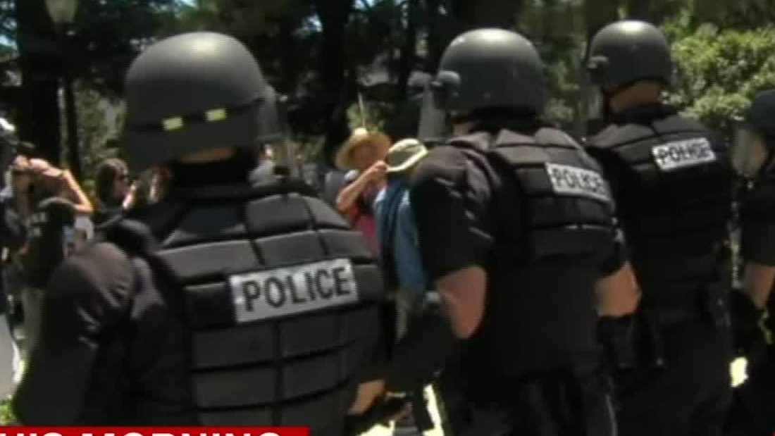 At least 10 injured -- some stabbed -- at California rally, authorities say