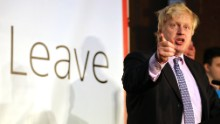 Johnson was a key figurehead in the Vote Leave campaign.