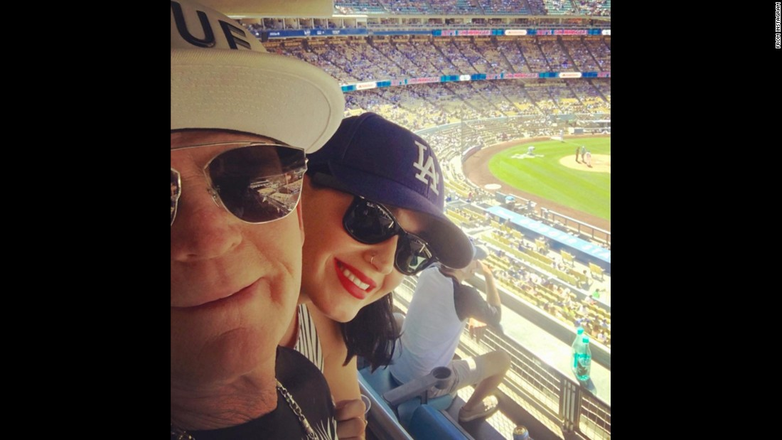 "Pop star Katy Perry takes in a baseball game with her dad on Father's Day. ""A home run,"" <a href=""https://www.instagram.com/p/BG2v3IIv-ZB/"" target=""_blank"">she said on Instagram.</a>"