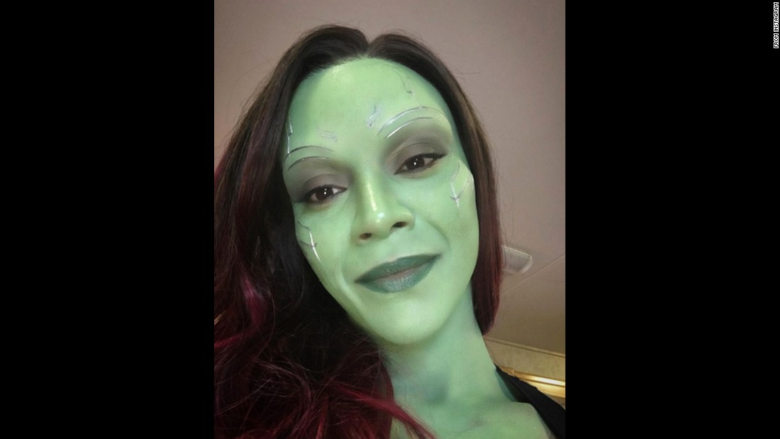 """A Gamora selfie to say thank you!!!"" said actress Zoe Saldana, referring to her ""Guardians of the Galaxy"" character on Tuesday, June 7. She was <a href=""https://www.instagram.com/p/BGXex01opy9/"" target=""_blank"">thanking her fans</a> after reaching 1 million followers on Instagram."
