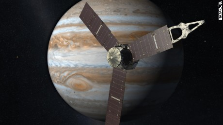 Giant spacecraft arrives at Jupiter on July 4