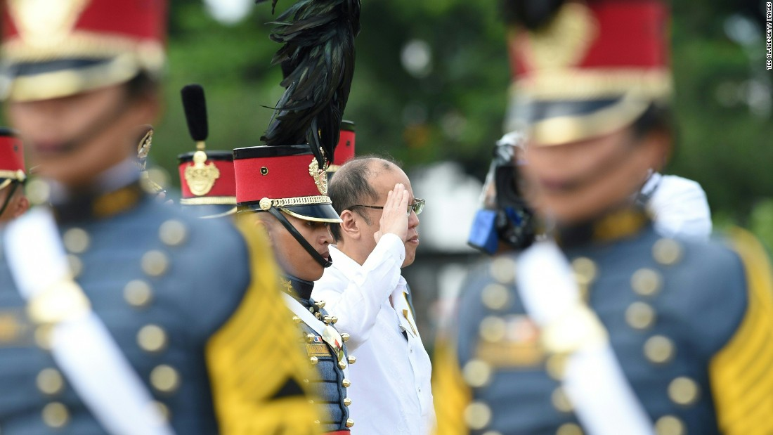 "Outgoing Philippines president Benigno Aquino (center), who was elected in 2010 for a six year term, told CNN Philippines he hoped he had left the Filipino population<a href=""http://cnnphilippines.com/life/culture/politics/2016/05/12/pnoy-presidency.html"" target=""_blank""> feeling empowered</a>."