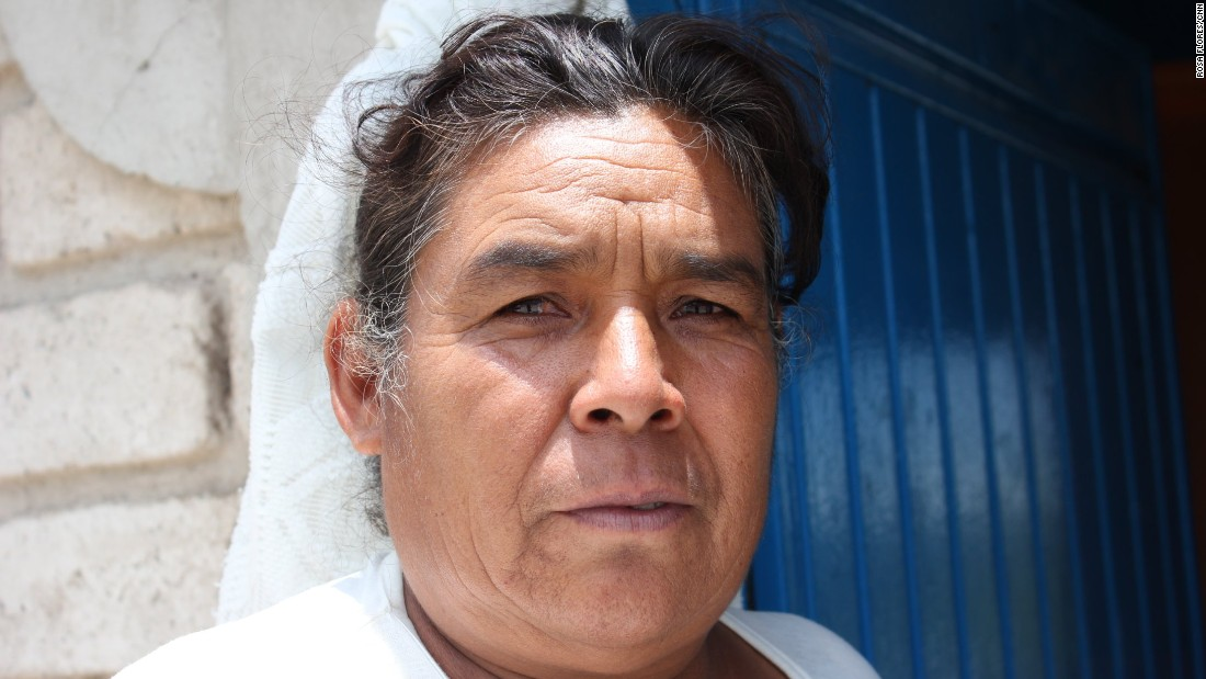 Rosalina Cruz Tapia, 54, doesn't receive money from the U.S. She cleans homes to make a living and hopes to eventually make it to the U.S. to work and earn more.