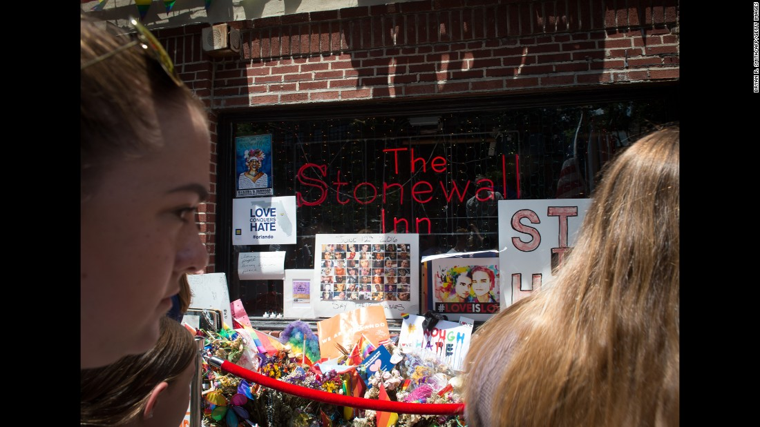 "New York's Stonewall Inn was designated as <a href=""http://www.cnn.com/2016/06/24/travel/stonewall-inn-first-lgbt-national-monument/"" target=""_blank"">the country's first national monument to LGBT rights</a> on Monday, June 27. The riots at the gay bar in 1969 -- <a href=""http://www.cnn.com/2016/06/16/us/gallery/tbt-first-pride-parades/index.html"" target=""_blank"">and the protests that followed</a> -- were a turning point for LGBT rights in the United States."