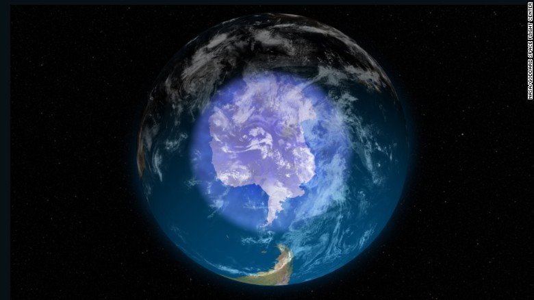 Hole in ozone layer healing at 1 to 3 percent per decade