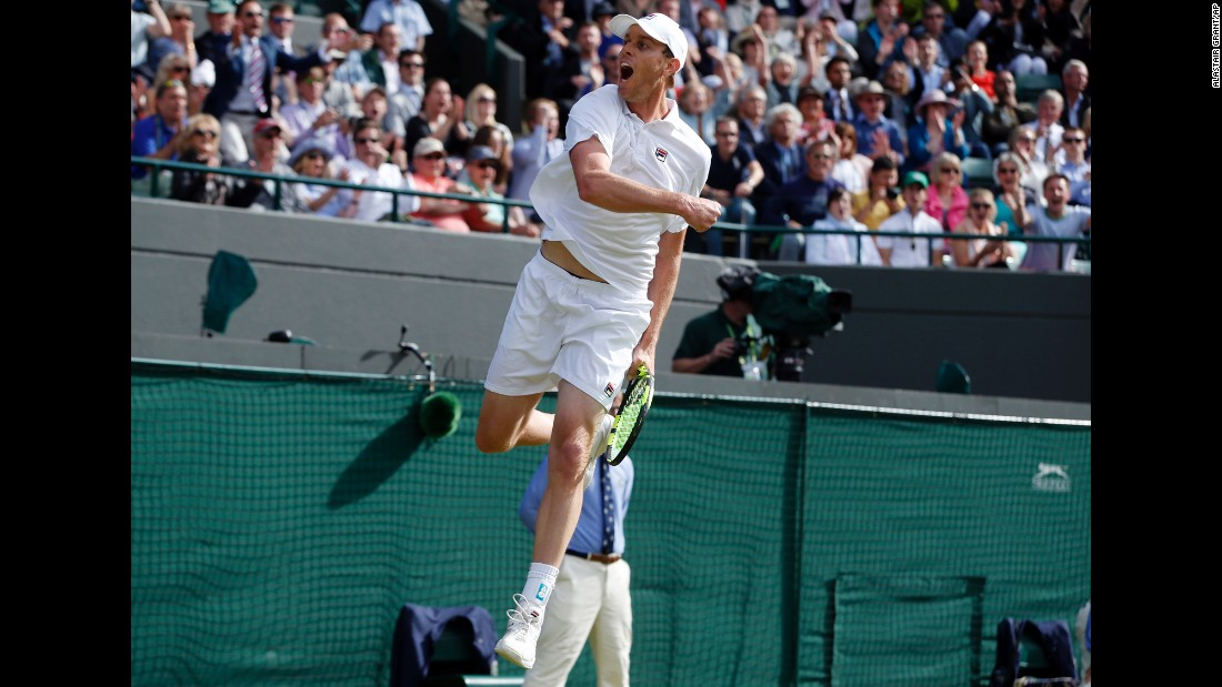 Querrey, who had led by two sets to love overnight before the game was suspended for rain, held his nerve in a fourth-set tiebreak to win  7-6 6-1 3-6 7-6.