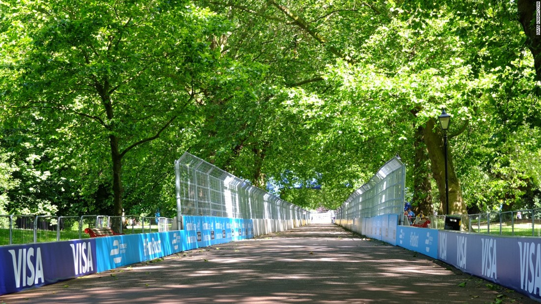 The streets of the Thames-side park were transformed into a 1.8-mile racetrack.