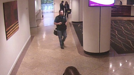 Police want help to identify this man seen leaving a hotel in Auckland.