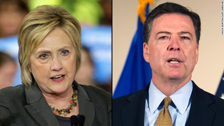 FBI director: No charges appropriate in Clinton case