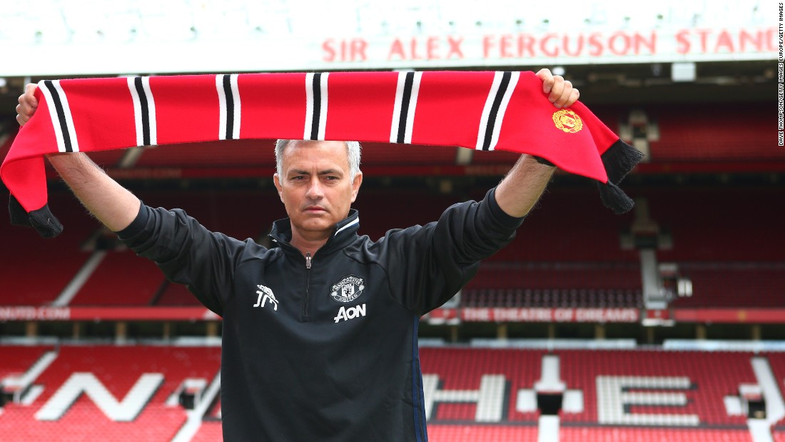 Jose Mourinho has been officially unveiled by Manchester United for the first time and says he feels no pressure in the job despite being sacked by Chelsea seven months ago.