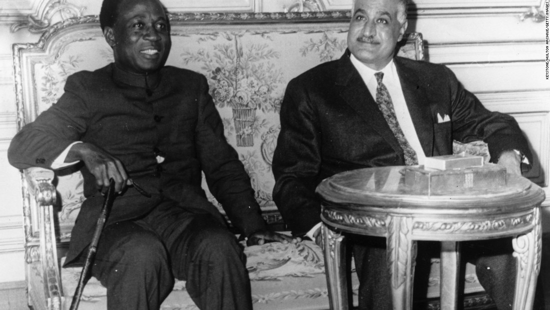 The move represents a step towards a continental integration and the historic vision of 'Pan-Africanism' espoused by post-independence leaders such as Ghana's first president Kwame Nkrumah (left) and Egypt's second president Gamal Abdel Nasser (right).