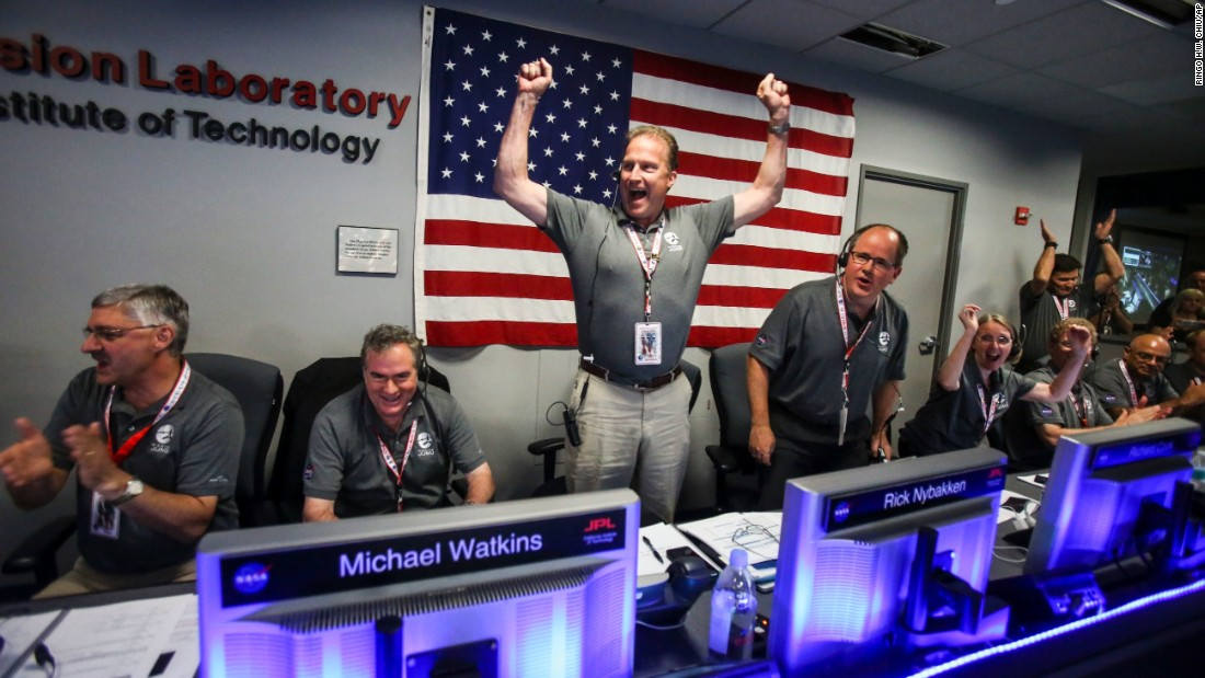 'Welcome to Jupiter!' NASA's Juno space probe arrives at giant planet