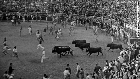 SPAIN. Pamplona. 1954. During the festival of San Fermin.