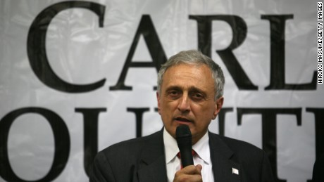 Republican gubernatorial candidate Carl Paladino speaks to his supporters at American Defense Systems, October 26, 2010, in Hicksville, NY.