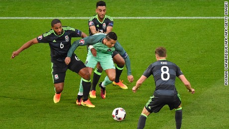 Wales paid special attention to Cristiano Ronaldo in the opening stages of the contest.