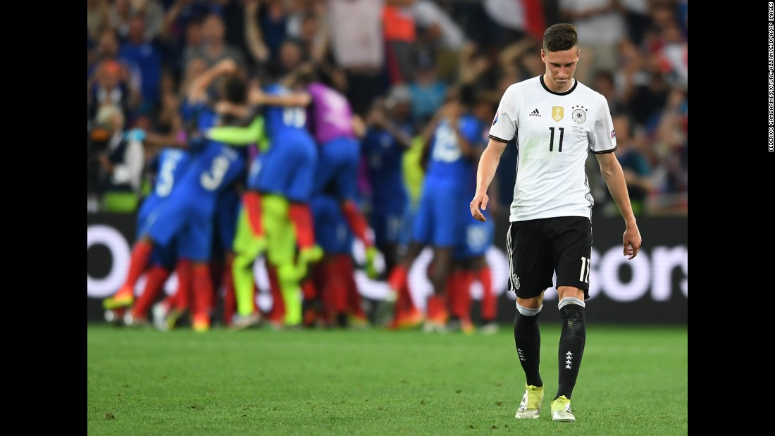 Germany's Julian Draxler reacts after the match.
