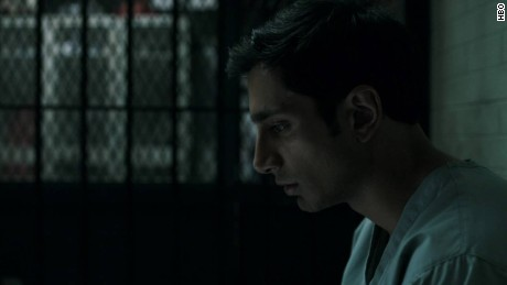"Riz Ahmed plays Nasir Khan, accused of killing a woman he meets by chance, in HBO's ""The Night Of."""