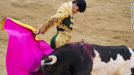 Spanish bullfighter Victor Barrio performs in Madrid in 2011. He was gored to death by a bull Saturday.