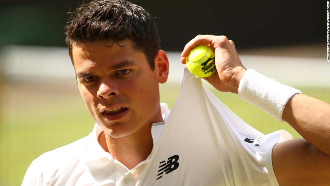 Raonic was coming under intense pressure on his own serve but held under a barrage of pressure to take a 5-4 lead in the second set.