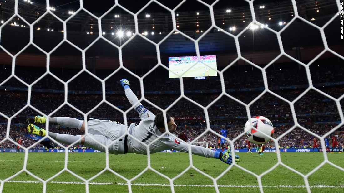 Eder's finish gave France goalkeeper Hugo Lloris no chance.