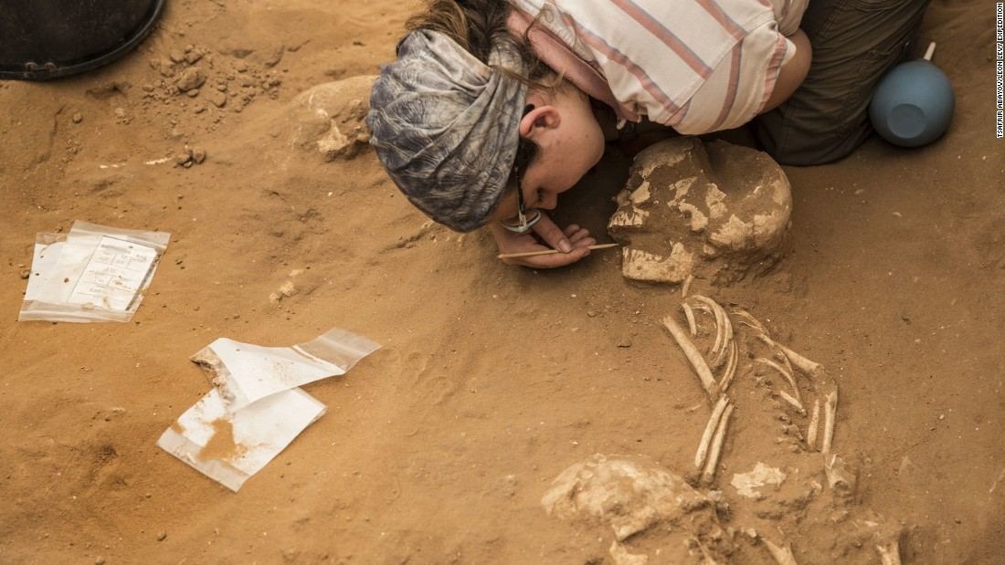 Archaeologists have unearthed the first Philistine cemetery ever found, at Ashkelon in southern Israel.