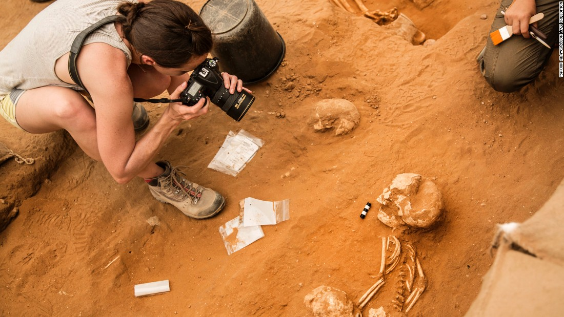 Bone samples from the site will be tested to try and find out where the Philistines came from -- passages in the Bible suggest they originated in ancient Crete.
